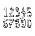 hand drawn numbers isolated on white vector image