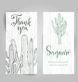 hand drawn saguaro cactus vector image vector image