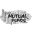 is your mutual fund the right one for you text vector image vector image