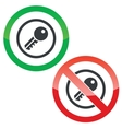 Key permission signs vector image vector image