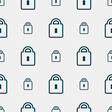 Lock icon sign Seamless pattern with geometric vector image vector image