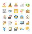 logistic delivery flat icons collection vector image vector image