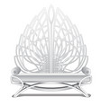 luxury bench in white with padded armrests vector image