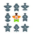 match the correct clown shadow puzzle game vector image vector image