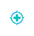 medical target logo icon design vector image