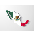 mexico map with shadow effect vector image vector image
