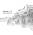 modern paper cut art design template vector image