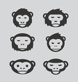 monkey design set vector image vector image