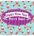 New Year and Christmas greeting card with Santa