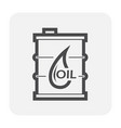 oil container icon design black and outline vector image vector image
