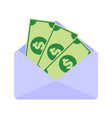 paper money salary envelope graphic vector image