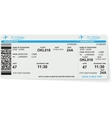 Pattern of airline boarding pass ticket vector image vector image