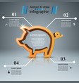 pig coin - business infographic vector image