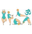 plus size woman doing yoga exercises vector image