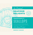 premium quality seafood delights abstract vector image
