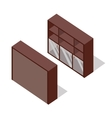 Rack in Isometric Projection vector image