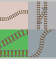railway parts grey rails vector image