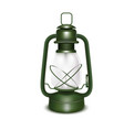 realistic 3d detailed old oil lantern vector image