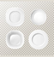 realistic blank kitchen plates dishes set vector image vector image