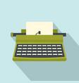 retro typewriter icon flat style vector image