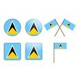 Saint Lucia Flag Badge vector image vector image