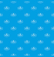 sea bell pattern seamless blue vector image vector image