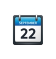 September 22 Calendar icon vector image vector image