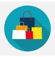 Shopping Bag Design Icon vector image vector image