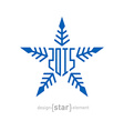 snowflake with new year date vector image vector image