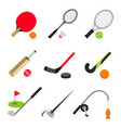 sport ball game table tennis badminton golf vector image