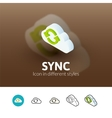 Sync icon in different style vector image vector image