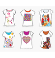 T-shirts design templates with funny paintings vector image