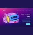 technological singularity concept landing page vector image vector image