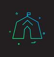 tent icon design vector image