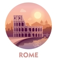 Travel destination Rome vector image vector image