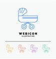 trolly baby kids push stroller 5 color line web vector image