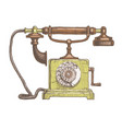 typical telephone end xviii century vector image vector image