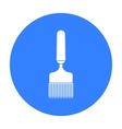 Uncapping fork icon in black style isolated on vector image vector image