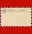 vintage groundhog day postcard vector image