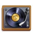 Vinyl record player print vector image