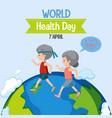 world health day logo vector image vector image
