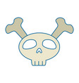 funny skull with bones crossed vector image