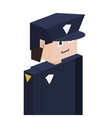 lego silhouette with policeman half body vector image
