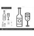 sparkle wine line icon vector image