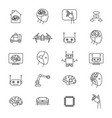 artificial intelligence signs black thin line icon vector image