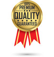 100 premium quality guaranteed gold label vector image
