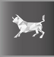 a bull in paper style on a vector image vector image