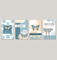 abstract composition with butterfly vector image vector image