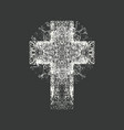 abstract grunge black cross on a black background vector image vector image