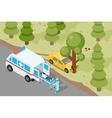 Ambulance Emergency medical accident evacuation vector image